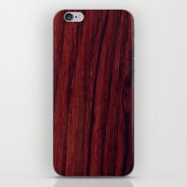 Deep red wood veneer design iPhone Skin