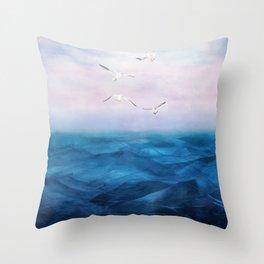 Watercolor Sea 5 Throw Pillow