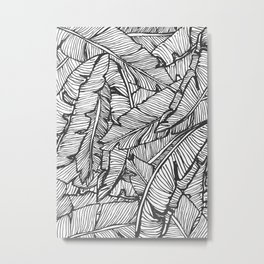 Black & White Jungle Metal Print