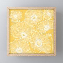 Sunshine Yellow Poppies Framed Mini Art Print
