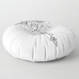 Rose diamond mandala  Floor Pillow