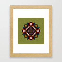 Faces Within Mandala Framed Art Print