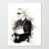 karl Canvas Prints featuring Karl  by Sasha Spring Illustration