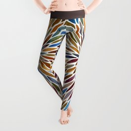 Watercolor Burst – Retro Palette Leggings