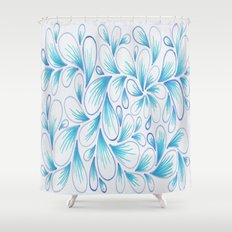 Cerulean Spray  Shower Curtain