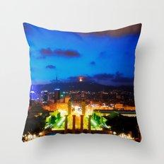 Barcelona. Montjuik Throw Pillow