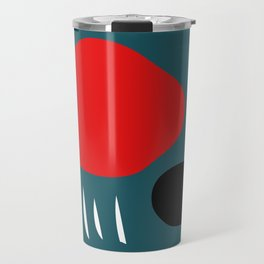 Minimal Red Black Abstract Art Travel Mug
