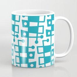Mid Century Modern Abstract 213 Turquoise Coffee Mug