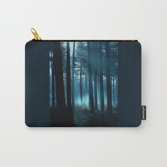 Haunted forest- winter mist in forest Carry-All Pouch