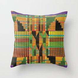 Kente Stripes Throw Pillow