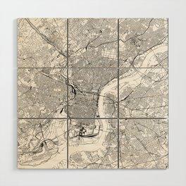 Philadelphia White Map Wood Wall Art