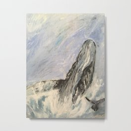 oh whale  Metal Print