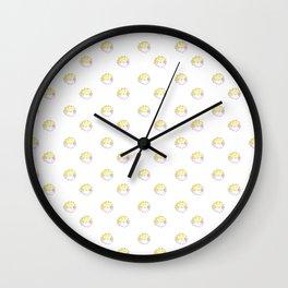 Puffer dots Wall Clock
