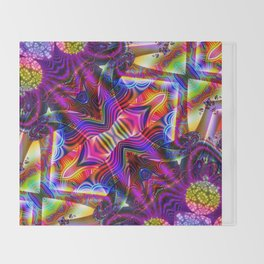 BBQSHOES: Fractal Digital Art Design 3114b Throw Blanket