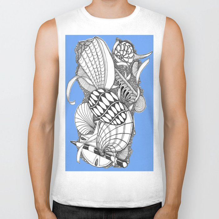 Gifts from the Sea Zentangle Style Biker Tank