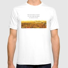 the past is like a foreign country. Mens Fitted Tee White MEDIUM