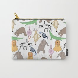 safari animal yoga Carry-All Pouch