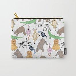 safari animal yoga Carry-All Pouch
