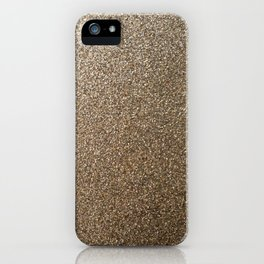gold glitter photo iPhone Case