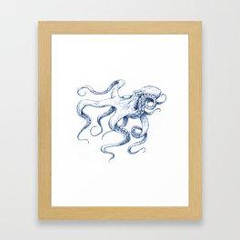 Blue Octopus Framed Art Print