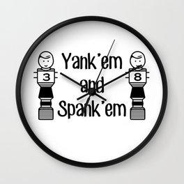 Yank'em and Spank'em Wall Clock