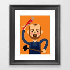 Taking the Plunge! Framed Art Print