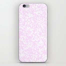 Small Spots - White and Pastel Violet iPhone Skin
