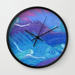 Ocean nomads Wall Clock