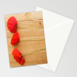 3 poppies Stationery Cards