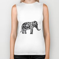 ganesh Biker Tanks featuring Ganesh by doctusdesign