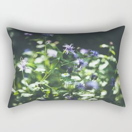 Purple wild flowers Rectangular Pillow