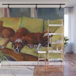 Boxer Dog Siesta Wall Mural