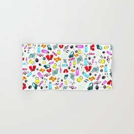 Work Out Items Pattern Hand & Bath Towel