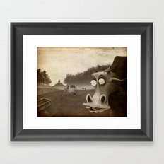 a morning without sun Framed Art Print