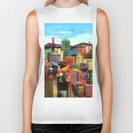San Francisco City Chicken Biker Tank