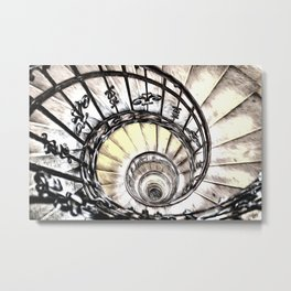 The Spiral Staircase Metal Print