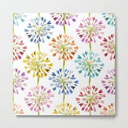 Heart Flower - colorful Metal Print