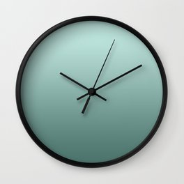 #Turquoise #pearls #Ombre Wall Clock