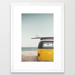 Surfing time Framed Art Print