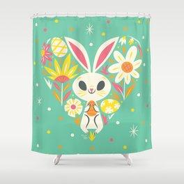 I Heart Easter Shower Curtain