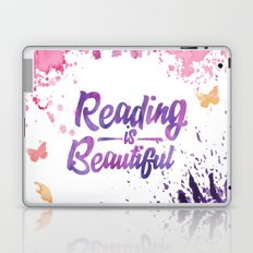 Reading is Beautiful - Splash Laptop & iPad Skin