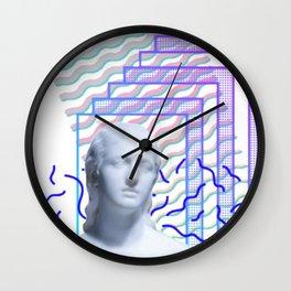 Vaporwave Greek Wall Clock