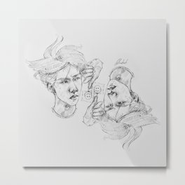 INNER CHILD OF QUESTIONS + DESCISIONS Metal Print