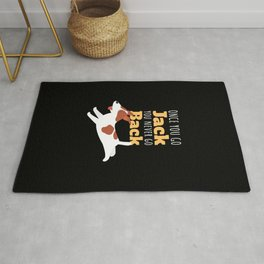 Jack Russell Gift Terrier Doggo Puppy Dog Lover Rug