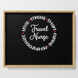 Travel Nurse Gifts Nurses Nursing Love Serving Tray