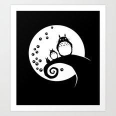 Totoro Before Christmas Art Print
