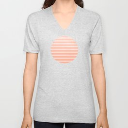 The Sweet Life Collection - Peach Coral Sun Gradient Unisex V-Neck