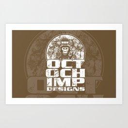 Octochimp Designs Art Print