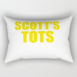 The Office Scott's Tots Light Blue T-Shirt Tee Rectangular Pillow