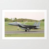 F15 STRIKE EAGLE  Art Print